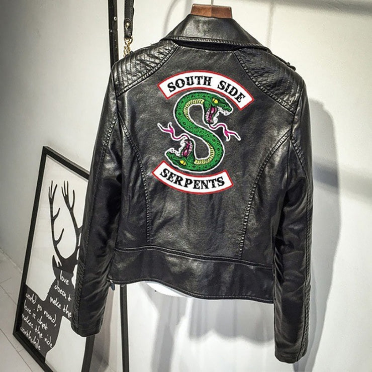 Blouson Femme en cuir  South Side Serpents - Riverdale