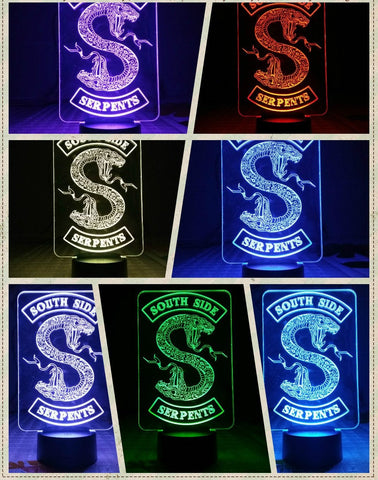 Lampe / Led South Side Serpents - Riverdale