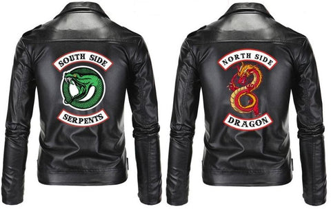 Blouson en cuir Rivedale - South Side Serpents/North Side Dragon