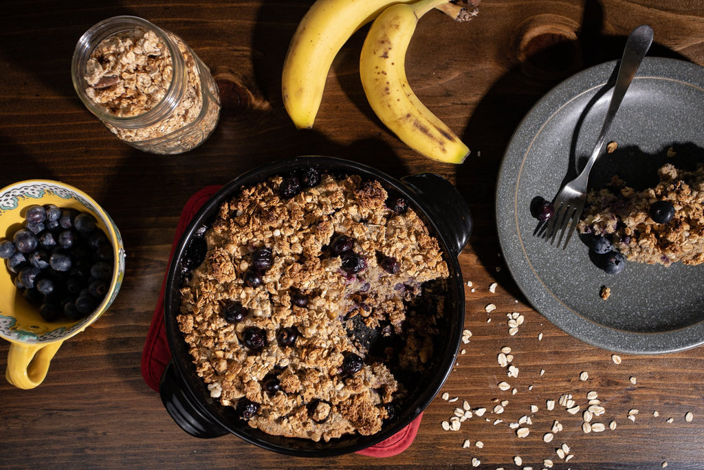 Blueberry Banana Bake