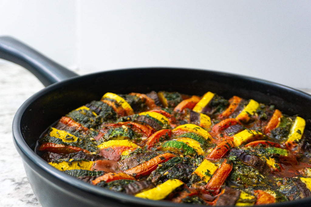 Herb infused baked Ratatouille
