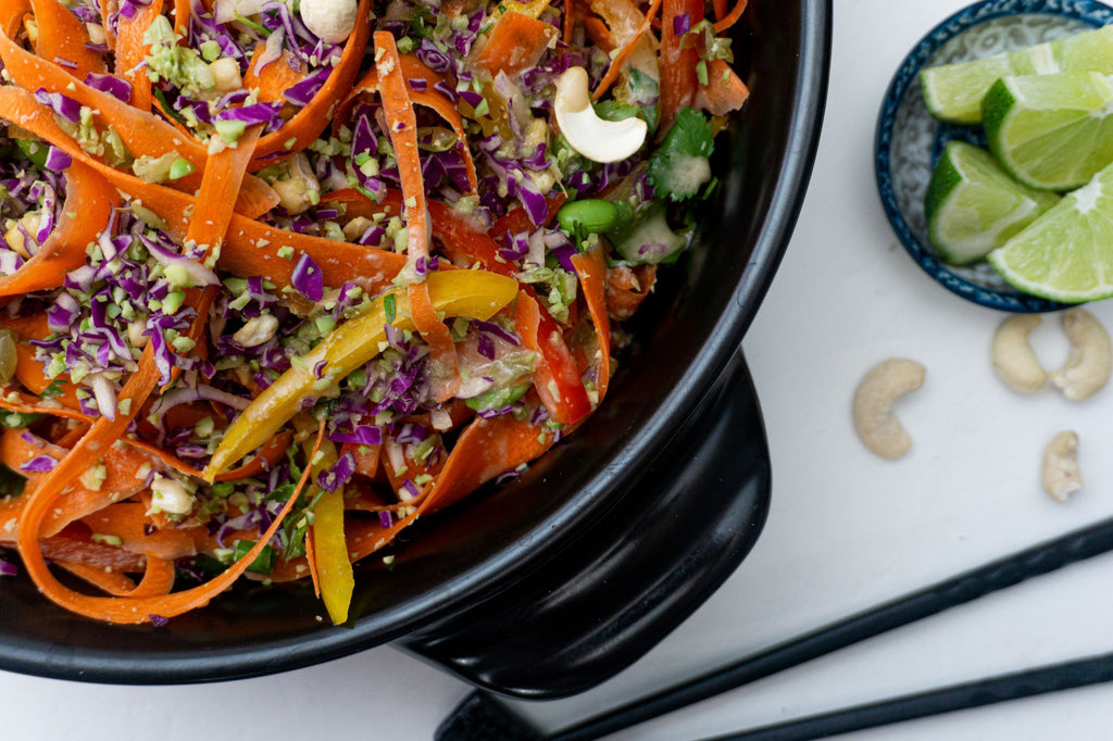 Colorful Thai Chopped Salad with Zesty Ginger Dressing