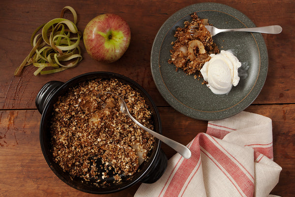 Apple Crumble baked in Xtrema 8in Versa Skillet