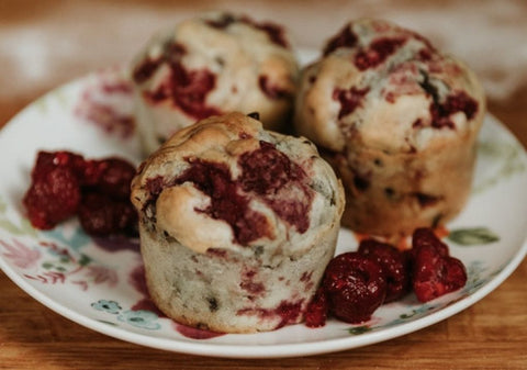 Berry Cream Muffins