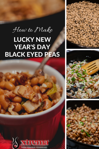 lucky black-eyed peas for New Year's Day