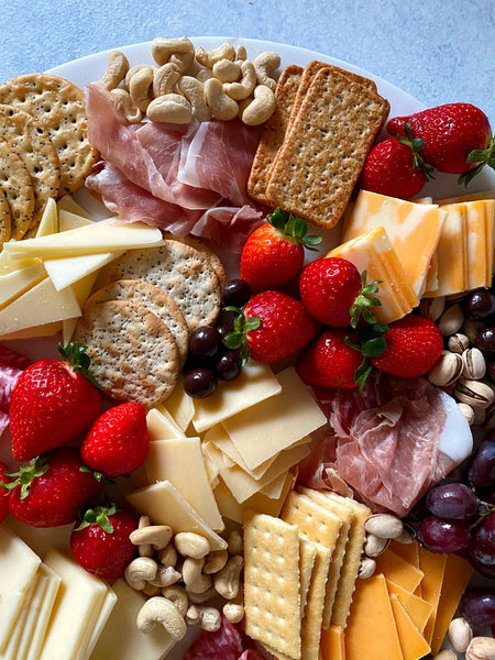 easy meat and cheese board for holiday entertaining