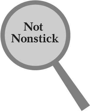 not nonstick icon