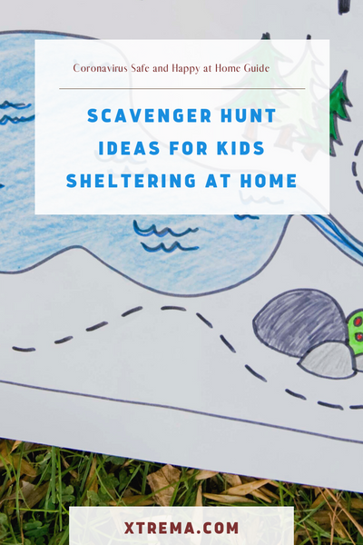 scavenger hunt ideas for kids sheltering at home