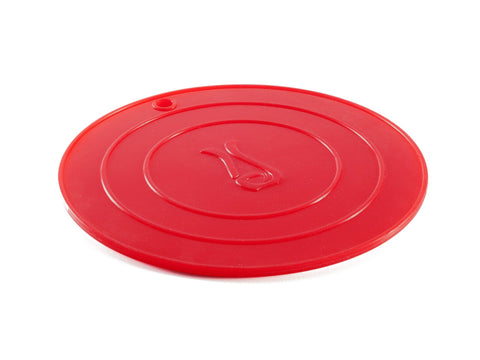 Round Red Silicone Trivet