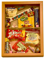 Sweets themed dementia care home memory box