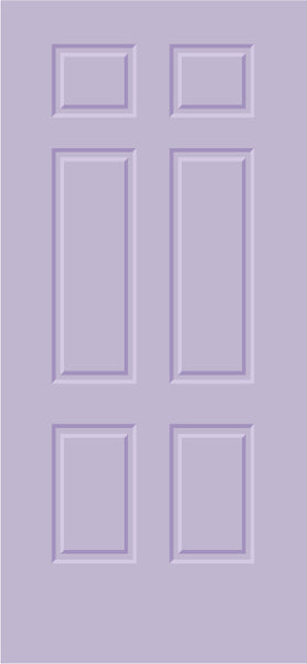 Door Decor / Door-cals - 6 panel design