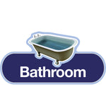 Door signs - Bathroom, Toilet and Bathroom, The Care Home Designer