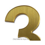 Door furniture, brushed silver and gold door numbers for alzheimer's and dementia care home The Care Home Designer