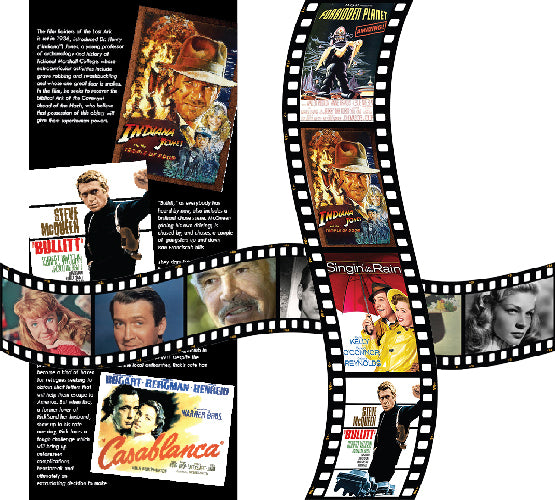 Reminiscence display artwork for care homes with dementia, depicting some of our favourite movies, actors and actresses