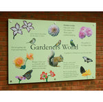 A delightful reminiscence display artwork with pictures of flowers, animals, birds and butterflies commonly found in English gardens. Including sound bites and poetry relating to happy memories of gardening.
