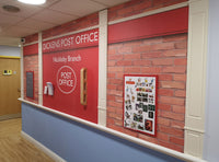 Wallpaper Mural of a Post Office designed for dementia care homes