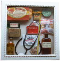 Detailed image of alternative content for the NHS reminiscence display Medical memory box