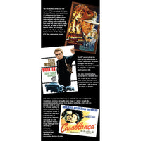 Reminiscence display artwork for care homes with dementia, depicting some of our favourite movies, actors and actresses featured in Indiana Jones, Bullitt and Casablanca