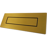 Door furniture, brushed gold letter box for alzheimer's and dementia care home The Care Home Designer