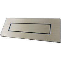 Door furniture, brushed silver letter box for alzheimer's and dementia care home The Care Home Designer