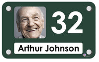 Racing Green Residential Dementia Care Home Interchangeable Personalised Bedroom Signs