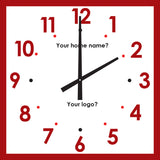 Ultra clear, large face traditional style clocks for dementia care - Square face
