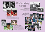 Reminiscence display artwork featuring some of our best known sporting heroes and a number of tennis players