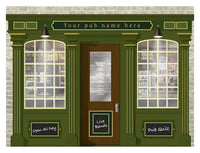 Pub - Rollermural, Mural for alzheimers and dementia care home with fire rating Orientation aids, The Care Home Designer