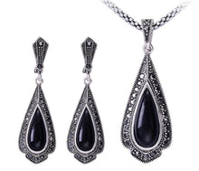 Vintage Black Jewelry Sets For Women With Rhinestones - Planet service