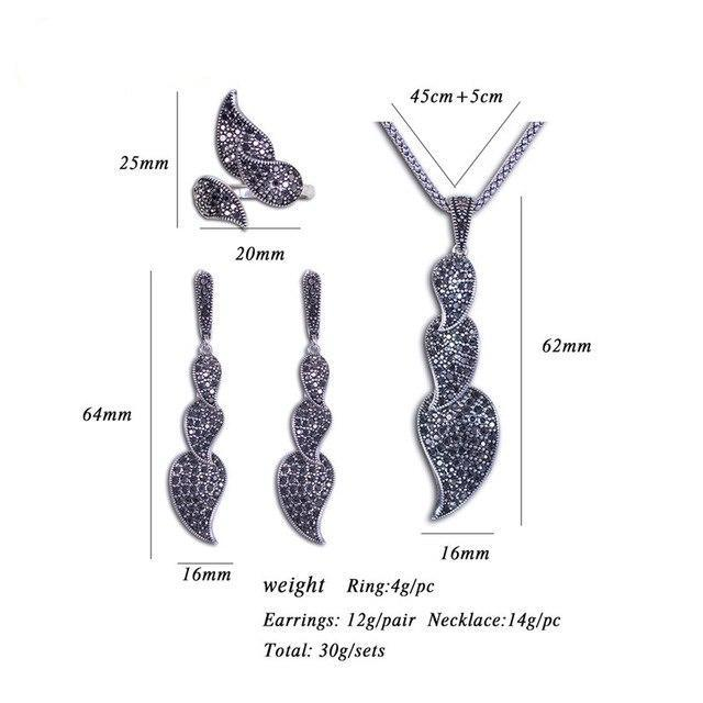 Rhinestone Water Drop Long Pendant Jewelry Sets For Women - Planet service