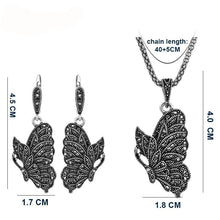 Women's Black Crystal Stone Animal Jewelry Sets - Planet service
