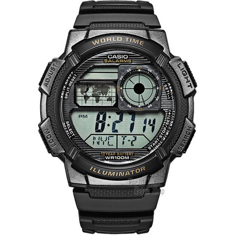 Men Sport Watch LED digital Waterproof Quartz - Planet service