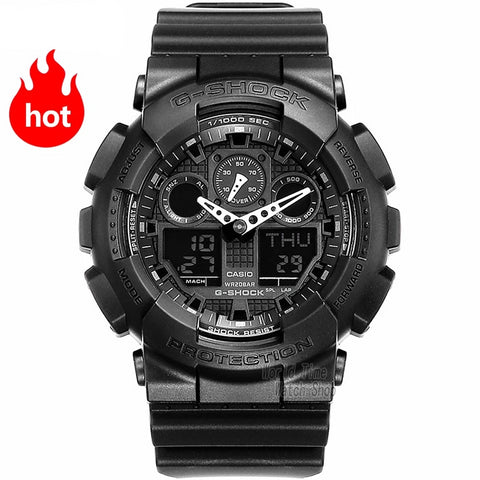 Men Chronograph LED digital watch sport Waterproof quartz - Planet service
