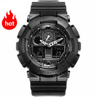 Men Chronograph LED digital watch sport Waterproof quartz