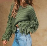 Women Pullover Knitted Sweater Long Sleeve - Planet service