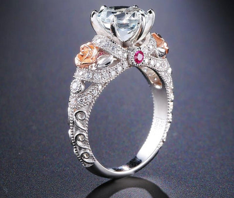 2ct Natural Topaz Gemstone Crystal Silver Ring For Women - Planet service