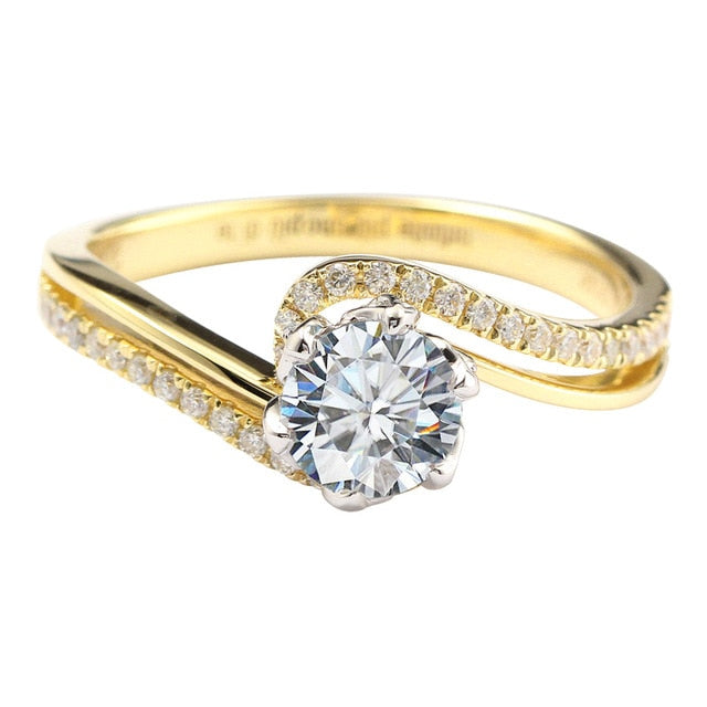 Women's Rose Design Engagement Ring 14K - Planet service