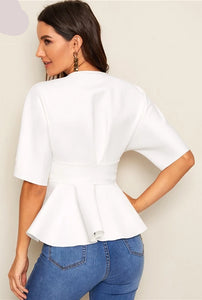 Women's Tops and Sleeve Blouses Deep V Neck - Planet service