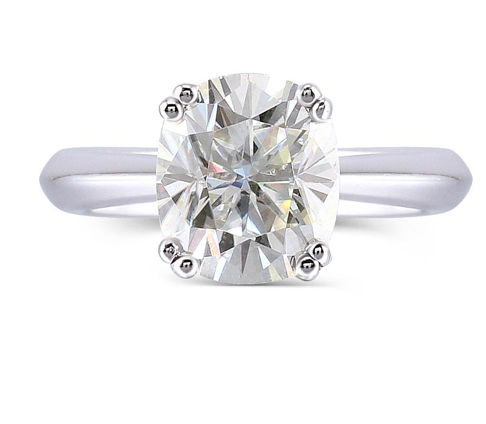 Women's Ring Platinum Plated Silver 2 Carats ct - Planet service