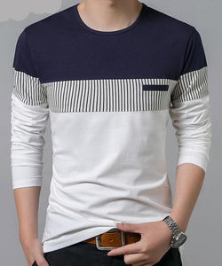 Men's T-shirt cotton with long sleeve - Planet service