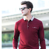 Men's polo summer shirt of cotton with long sleeve - Planet service