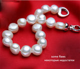 Real Pearl Jewelry Set Necklace Bracelet Earrings Ring - Planet service