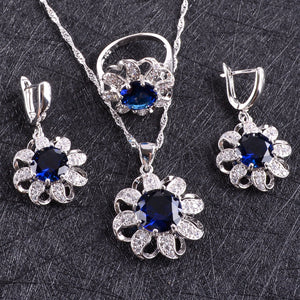 Women Earrings With Stones Bracelets Necklace/Pendant Rings - Planet service