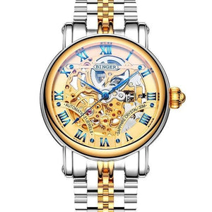 Men Automatic Mechanical Wristwatch Full Steel - Planet service