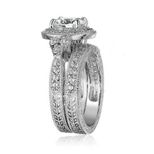 Women's ring Round cut Zircon Band ring Set - Planet service