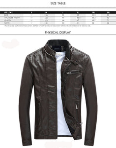 Men's leather jacket motorcycle - Planet service
