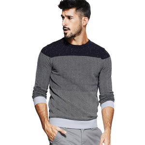 Men's Wool Knitted Sweater - Planet service