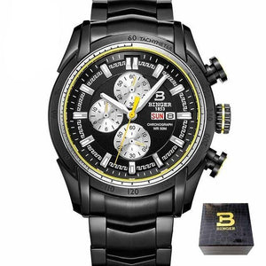 Men Quartz Wristwatch Waterproof - Planet service