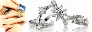 Women's Ring Cubic Zirconia Silver Simulated stones - Planet service