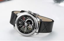 Men's Mechanical Analogue Wristwatch Casual Leather Strap - Planet service
